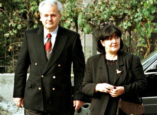 Slobodan sa suprugom Mirom 1996.
