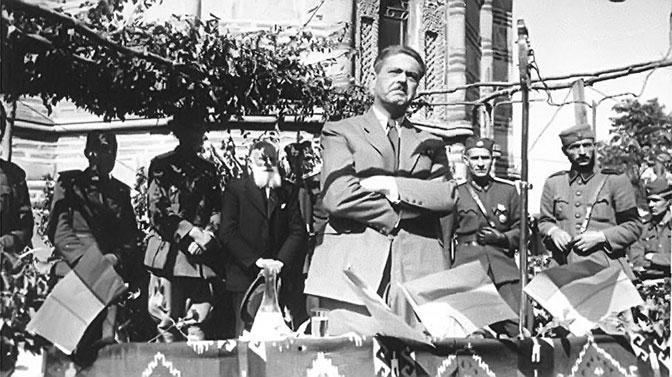 Ljotićev govor u okupiranom Kruševcu 1943. na zboru koji je organizovala kvislinška vlada
