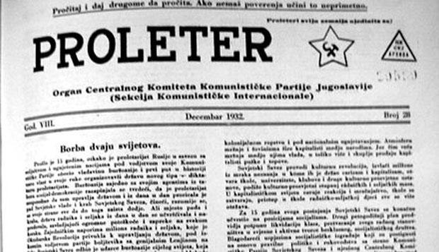 """Proleter"" - Organ KP Jugoslavije"