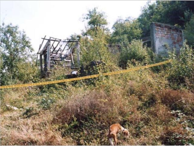 Остаци куће Секуле Ристановића (87) који је жив запаљен у њој