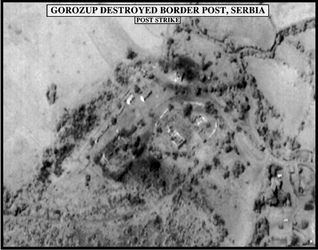 Porušena karaula Gorožup 6. maja 1999. godine / Foto: RTS
