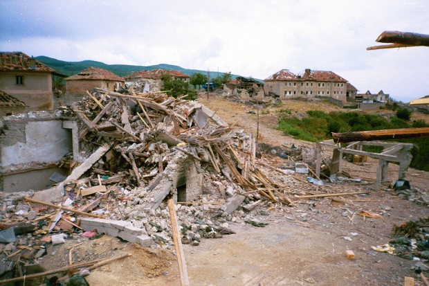 Selo Šeh mahala bilo je sravnjeno sa zemljom / Foto: RTS