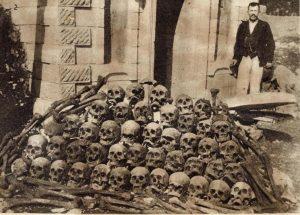 Kosti povješanih Srba u Trebinju (fotografisao Dušan Bakonjić iz Trebinja)
