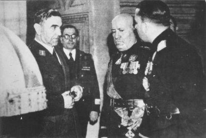 Ante Pavelić i Benito Musolini