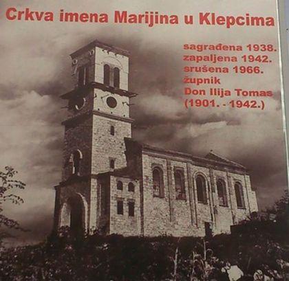 Crkva u kojoj su nasilno pokrštavani Srbi iz Klepaca 1941. godine