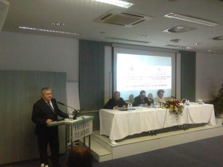 Dušan Bastašić na Međunarodnoj konferenciji Dostojanstvo, prava i slobode čovjeka - hrišćanska dimenzija u Čatežu, Slovenija