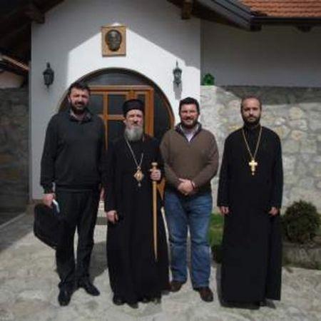 Episkop Atanasije sa predstavnicima Udruženja Ognjena Marija Livanjska