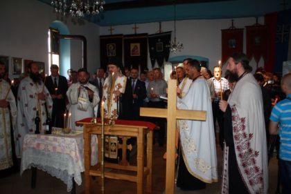 Episkop Teodosije služi parastos u Goraždevcu