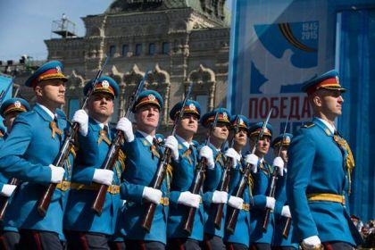 Ešelon Garde Vojske Srbije na paradi u Moskvi