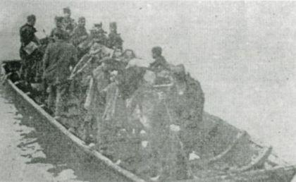 Четници Павла Ђуришића прелазе преко реке Босне