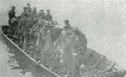 Četnici Pavla Đurišića prelaze preko reke Bosne