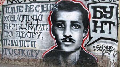 Grafit sa likom Gavrila Principa u Beogradu (foto: Vikipedija/Goldfinger)