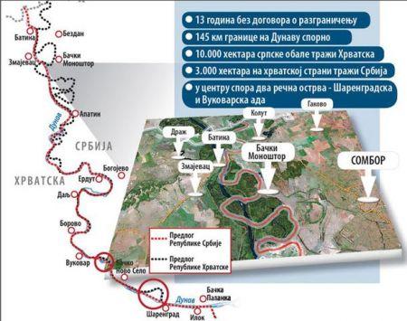 Granica između Srbije i Hrvatske na Dunavu