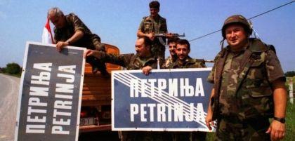 Hrvatski vojnici ulaze u Petrinju