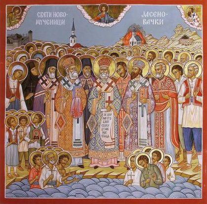 Ikona Novomučenika Jasenovačkih iz crkve u Hamiltonu