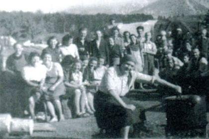 Izbeglički logor u Vetrini maja ili juna 1945. godine