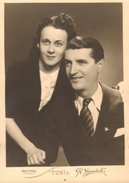 Miloš Gagić sa suprugom Milenom Lelom Čuturilo