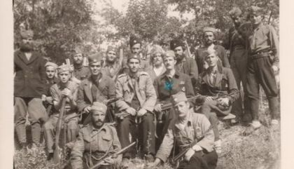 "Miloš Gagić komanduje Župskom brigadom Rasinskom korpusa (obeležen sa ""X"")"