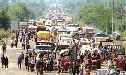 Izbjeglička kolona Srba iz Krajine