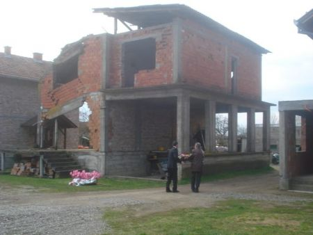 Kuća porodice Zečević ispred koje su ubijeni domaćin Vaso Zečević i njegova tri sina