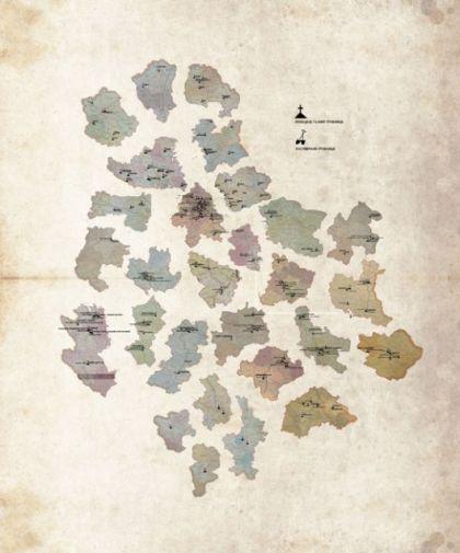 Mapa sa lokacijama tajnih grobnica 1944.