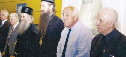 Mitropolit Amfilohije, vladika Joanikije, Čedo Vukmanović i Matija Bećković