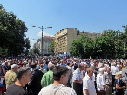 Na platou ispred crkve Svetog Marka služen je parastos stradalim Srbima iz Krajine