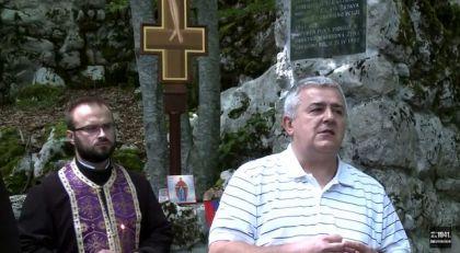 Obraćanje predsjednika udruženja Jadovno 1941. Dušana J. Bastašića kod Šaranove jame