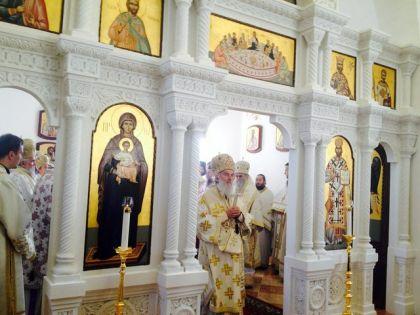 Patrijarh Irinej služio je arhijerejsku liturgiju u manastiru Rođenja Svetog Jovana Krstitelja u Jasenovcu