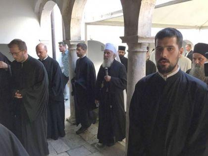 Патриjарх Иринеj у манастиру Крка