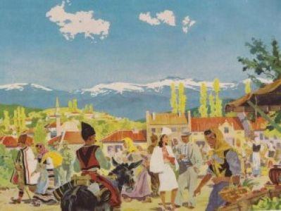 Ovako je Nemački vojni umetnik video pijacu u Srbiji 1941.