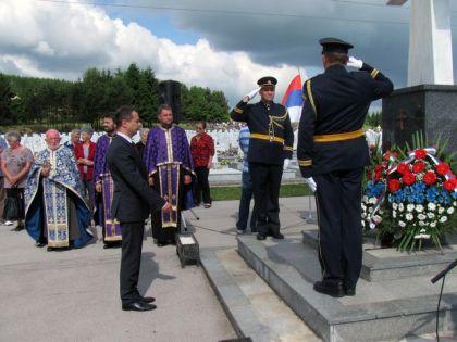 Polaganje vijenaca na vojničkom spomen groblju Mali Zejtinlik na Sokocu