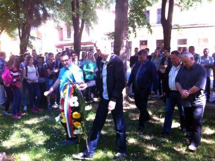 Polaganje vijenaca u Novom Gradu povodom Dana pobjede nad fašizmom