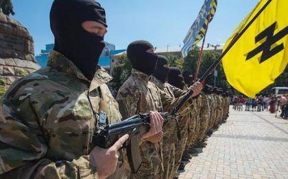 Pripadnici neonacističkog bataljona AZOV ukrajinskih snaga