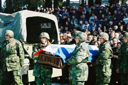Sahrana crnogorskih rezervista uz vojne počasti