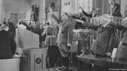 """Scena iz filma """"Hrvatski Parlament"""" iz 1941. godine"""