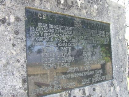 Spomenik u Gubinu popu Risti i njegovim parohijanima