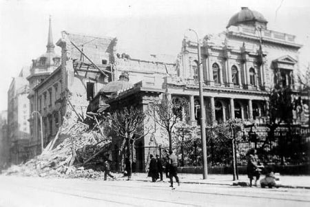 Срушена Народна библиотека у Београду