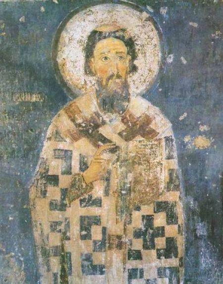 Sveti Sava, freska iz manastira Mileševa