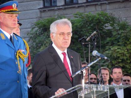 Tomislav Nikolić na otvaranju spomenika u Beogradu