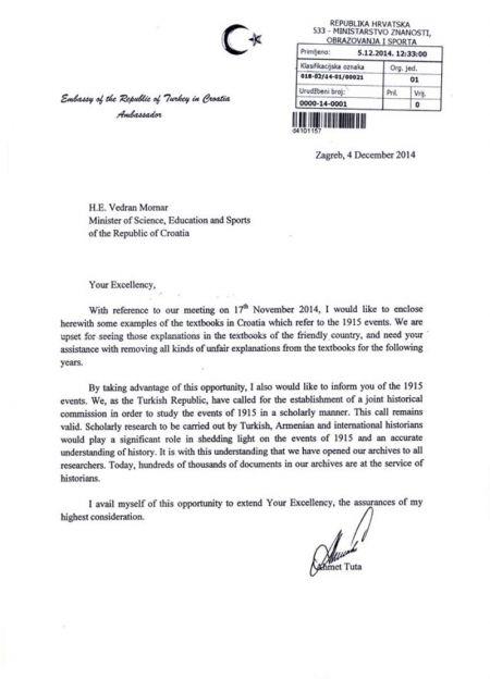 Turska Hrvatskoj: Izbacite iz udžbenika turski genocid nad Jermenima – Foto: blog.vecernji.hr