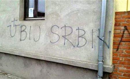 Ustaški grafiti na kućama