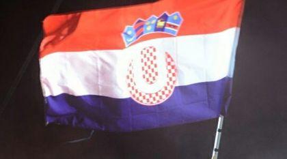 Hrvatska zastava sa modifikovanim grbom