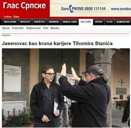 """Vest o početku snimanja filma """"Jasenovac"""" (Izvor: """"Glas Srpske"""")"""