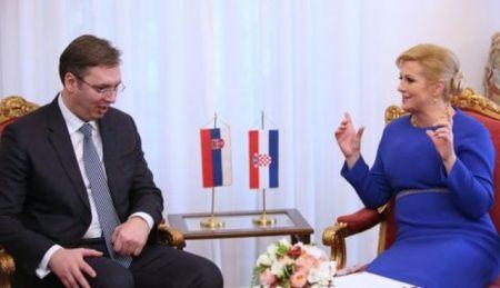 Premijer Srbije Aleksandar Vučić i predsednica Hrvatske Kolinda Grabar-Kitarović