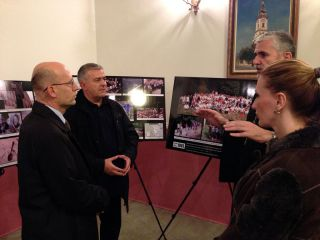 </span><span><span>His Excellency the Ambassador of Serbia in Great Britain Mr Ognjen Pribićević with his wife and Rector of the Serbian Orthodox Church in London Goran Spajić viewed the exhibition with much attention</span></span><span>
