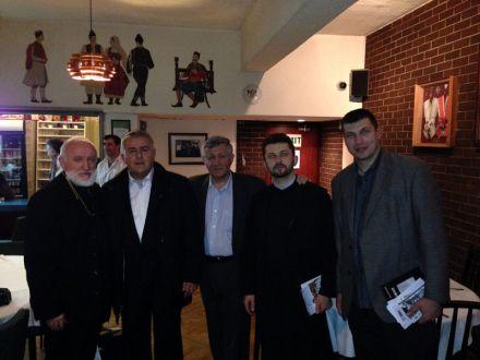 "<span>he opening of the exhibition was also attended by priest Radmilo Stokić from Leicester, a sponsor of the Jadovno association Mr Slobodan Simić, priest Dragan Lazić and Boško Zečević, the Secretary of the Serbian Chetnik Movement ""Ravna Gora""</span>"