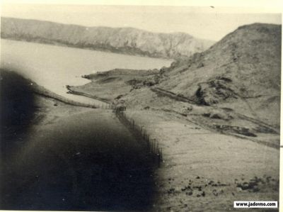 Exhumations and burning of exhumated bodies in the camp of Slana on the island of Pag in Croatia. Italian photo from September 1941. Jewish museum in Belgrade.