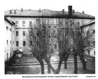 </p> <p>Building of the County court in Gospić in Croatia, a part of the complex of Ustasha concentracion camps in Jadovno – Gospić in 1941. Đuro Zatezalo, <em>Jadovno </em>– <em>kompleks ustaških logora 1941</em>, Beograd 2007, book I, pp. 275.</p> <p>