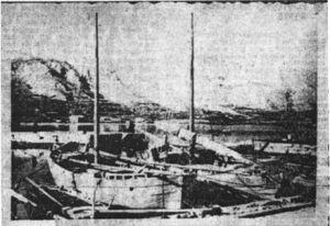 Brodice braće Maržića iz Paga. Takvim i sličnim plovilima ustaše su prebacivale zatočenike iz Karlobaga do Slane i Metajne.